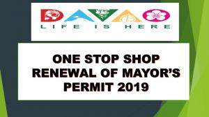 One Stop Shop Renewal of Mayor's permit 2019